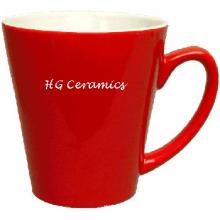 Roter Latte Becher, 12oz Kaffeetasse, 12oz roter Becher