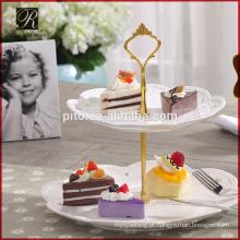 Para Casamento 2 Tie White Ceramic Cake Stand
