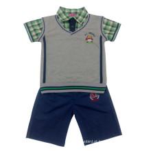 Verão menino crianças sportswear terno no desgaste da criança (sp002)
