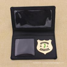 Пользовательские металлической мягкой эмали 3D-детектор кожаный кошелек полиции Значок