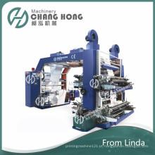 Máquina de impressão não tecida de alta velocidade da cor quatro (CE)