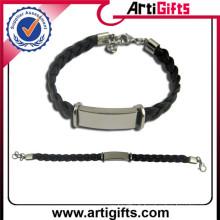 produire tout votre bracelet en cuir design en acier inoxydable