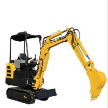 Mini excavadora hidráulica sobre orugas