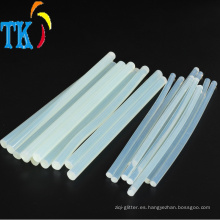 Barra de pegamento de fusión en caliente Barra de pegamento transparente para artesanía.