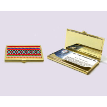 Titular de cartão de visita personalizado - banhado a ouro - Taiwan Aboriginal Art