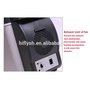 HF-600B (104) DC 12V AC 220V portátil mini venta caliente coche y hogar doble uso refrigerador de coche de uso fresco y caliente (certificado CE)