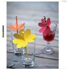 Decoração de palhas de festa artesanal de plástico