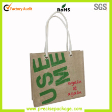Top Quality Rope Handle Jute Bag with Metal Eyes
