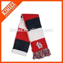 Écharpe en tricot à rayures verticales en acrylique personnalisé en gros