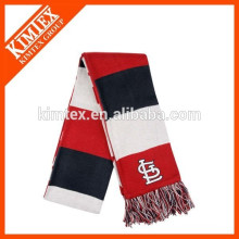 wholesale custom acrylic vertical stripe knit scarf