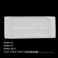 Porcelana criativo retangular branco ondulado