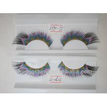 2015 heißer Entwurf preiswerte drei Farbe falsche silk Art und Weise einzelne Wimpern
