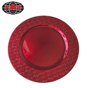 Red Classical Pattern Plastic Plate