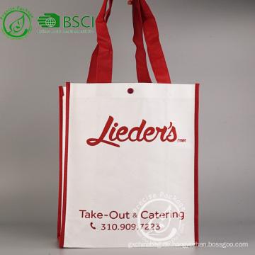 Wiederverwertbare kundenspezifische pp. Nichtgewebte Werbungseinkaufstasche