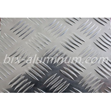 Five Bars Silver Patterned Aluminum Alloy Sheet