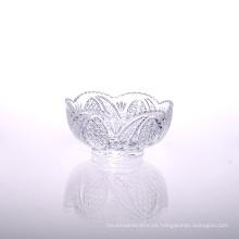 Tazón de fuente de cristal grande al por mayor de la vajilla