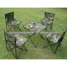 Foldable Camping Chairs and Tables Set