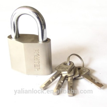 China Suppliers Nickle plated Diamond Type iron padlock