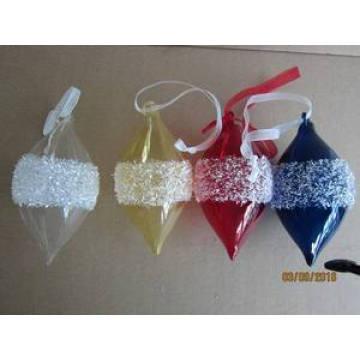 Pingente de cone de vidro de cor para o natal