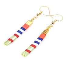 Bohemian Beach Tila Beads Earrings Colorful Long Beaded Girls Stick Earrings Jewelry