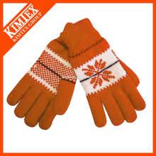 Fashion knit custom acrylics gants en laine
