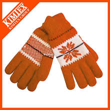 Fashion knit custom acrylics wool gloves