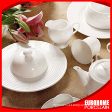 Hotel & restaurant white tableware for wedding use porcelain banquet crockery