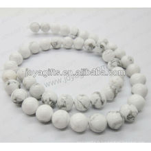 Perles rondes Howlite / 4mm / 6mm / 8mm / 10 / mm / 12mm grade A