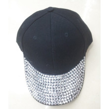 Newly style baseball cap with rhinestone cotton hat