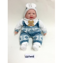 "12"" Blue Open Mouth Baby Vinyl Doll"