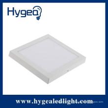 12W superfície impermeável super neutro branco montado levou luz do painel quadrado