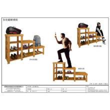 Multifunctional Bamboo Shoe Rack(3 Steps)