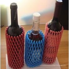 Plastikfabrik-China-Förderungs-hohe Qualitätswein-Flaschen-schützendes Schaum-Ärmel-Netz