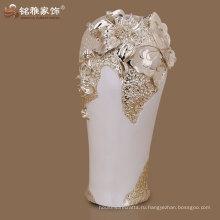 2016 новый дизайн высокое качество полистоуна ваза для продажи