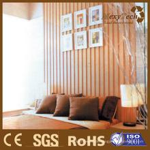 Umweltfreundliche WPC-Wand, ein bester Hintergrund für Schlafzimmer.