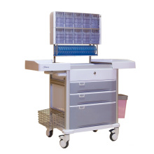 Hospital Multifunctional 3-Layer Drawer Anesthesia Trolley