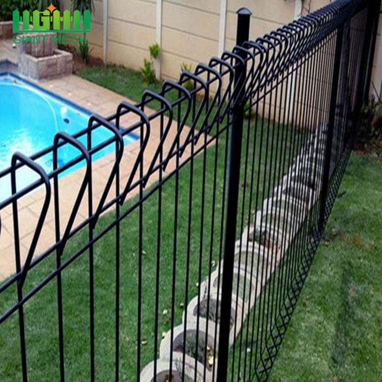 Galvanized+Anti-climb+Security+Roll+Top+Fence+Panels