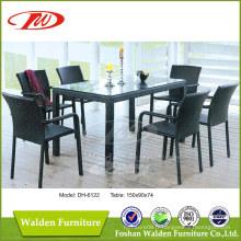 Mobilier en osier, table à manger et chaises (DH-6122)