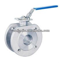 Plaquette à brides 150lb robinet à tournant sphérique, ISO5211 bossage de montage