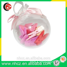 Small Colorful Wood Clip in Round PS Box