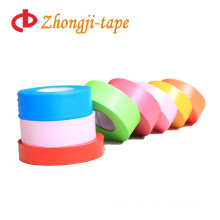Mark different tree colorful flagging warning tape