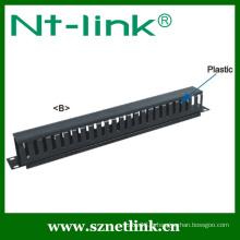Gestionnaire de câbles verticaux pour 2 et 4 postes avec couvercle