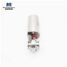 Válvula de mariposa neumática de la válvula neumática de la válvula neumática del precio del acero inoxidable de 1inch 2inch 3inch 4inch SUS304 / 316L