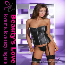 Beauty's Love Wholeale Sexy Mulheres maduras Wet Look Sexy Leather Lingerie