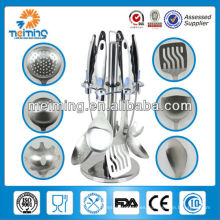 Utensilio de cocina de acero inoxidable al por mayor 7pcs, nombres de utensilios de cocina