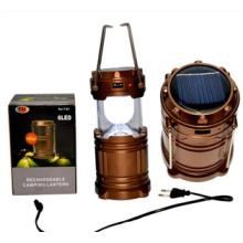 Aluminium Solar Multifuctional USB Outdoor LED Camping Light (OS15053)