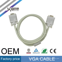 SIPU high quality scart vga cable for monitor VGA cable 3+4 M/F