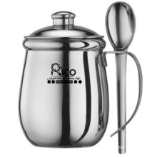 Stainless Steel Double Wall Cup with Spoon 258ml