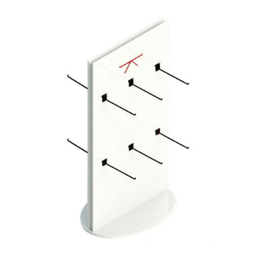 Lucite Countertop Sock Stand, White Acrylic Sock Racks
