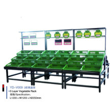 Edelstahl-Supermarkt-Obst und Gemüse-Präsentationsständer